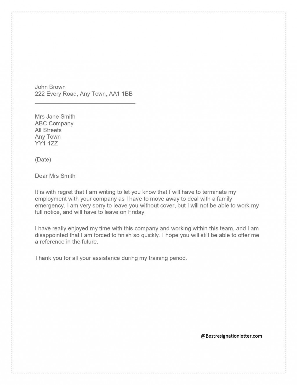 003 Breathtaking Sample Resignation Letter Template Email Highest Quality Large