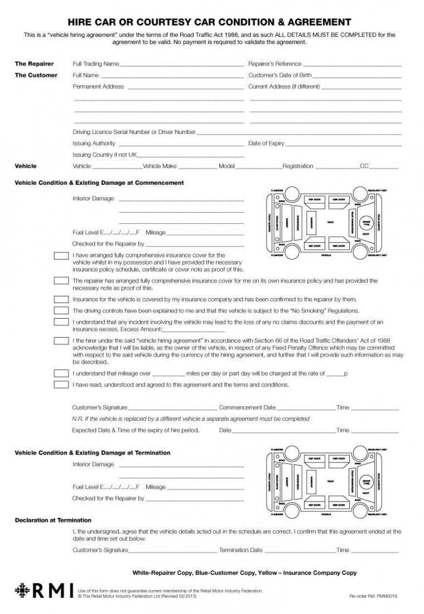 003 Breathtaking Template For Car Hire Agreement Picture