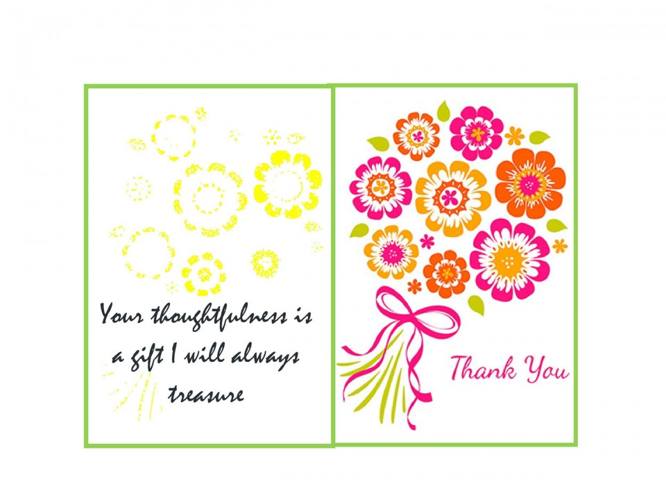 003 Breathtaking Thank You Note Template Free Printable Highest Quality 960