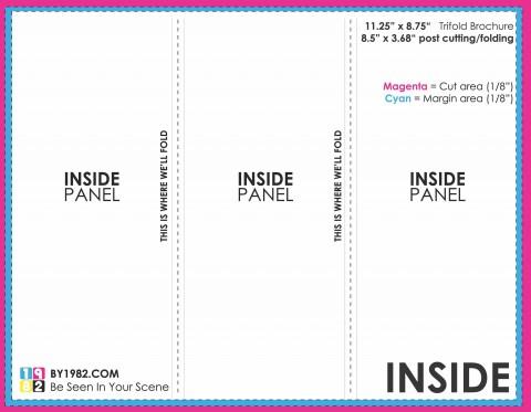 003 Dreaded 3 Fold Brochure Template Doc High Def  Google480