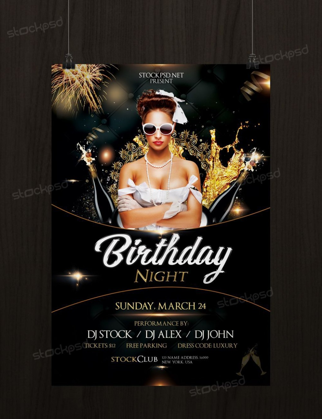 003 Dreaded Birthday Flyer Template Psd Free Download Highest Clarity Large