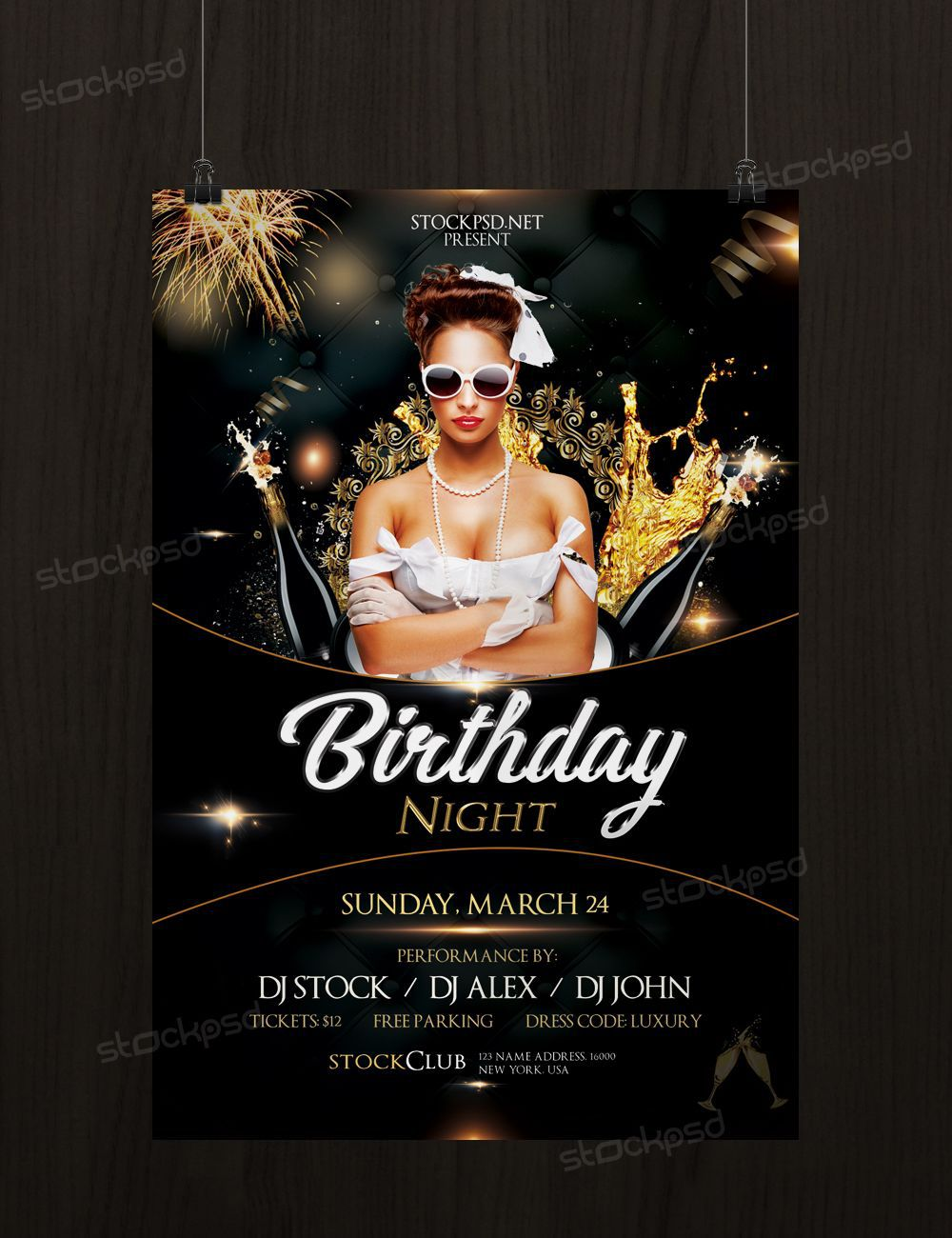 003 Dreaded Birthday Flyer Template Psd Free Download Highest Clarity Full