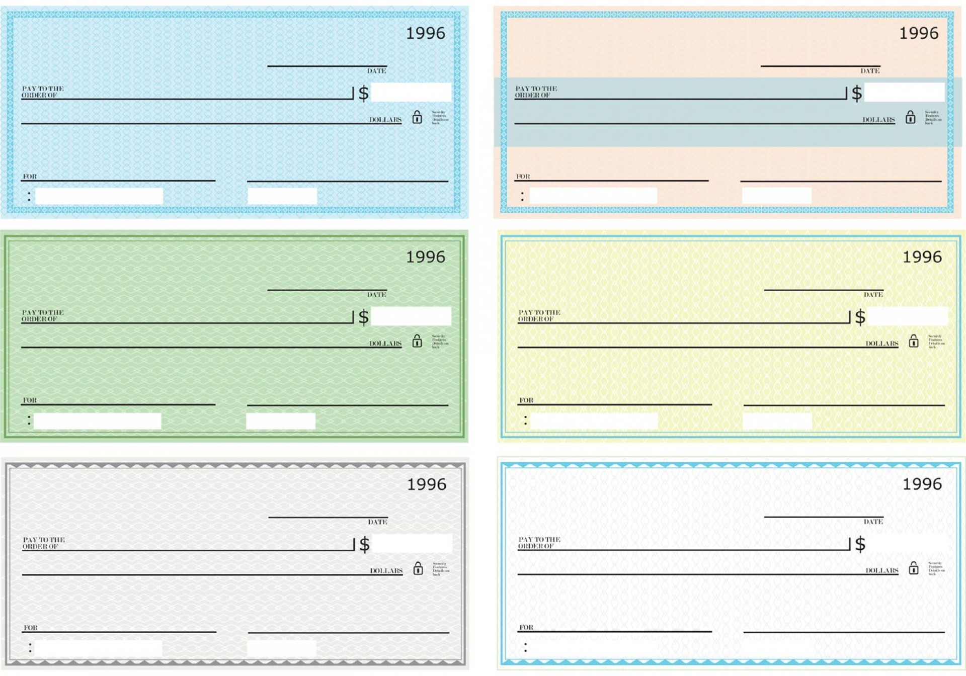 003 Dreaded Busines Check Template Word Highest Quality  Free Blank Document1920