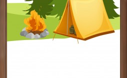 003 Dreaded Camping Invitation Template Free High Def  Party Birthday
