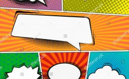 003 Dreaded Comic Strip Layout For Word Design  Book Script Template Microsoft Doc