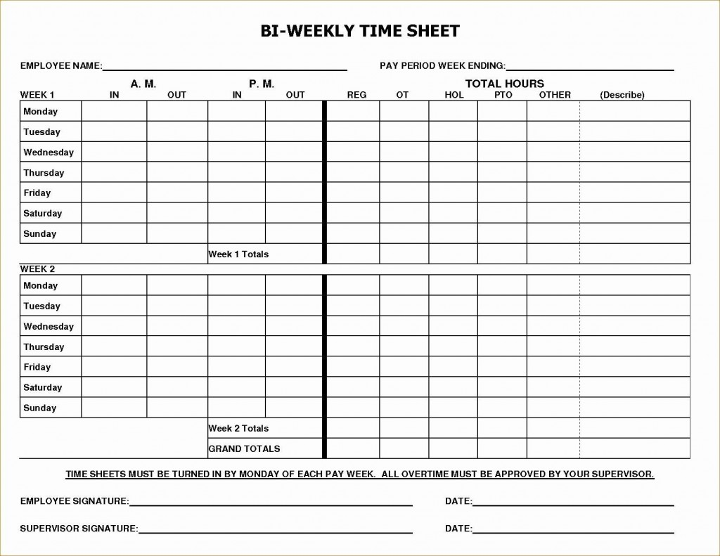 003 Dreaded Employee Time Card Form Image  Timesheet Template Excel Sheet FreeLarge