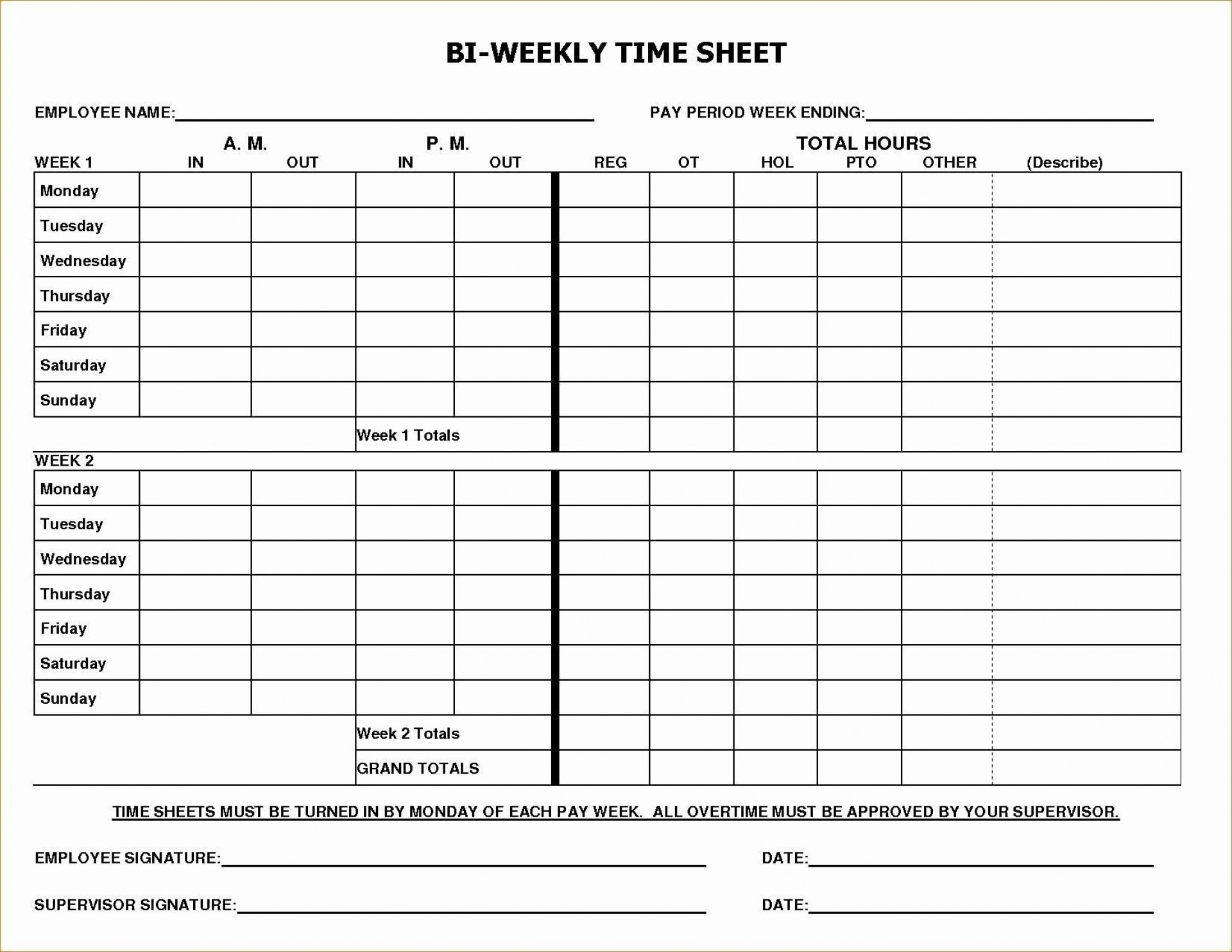 003 Dreaded Employee Time Card Form Image  Timesheet Template Excel Sheet Free1920