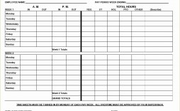 003 Dreaded Employee Time Card Form Image  Timesheet Template Excel Sheet Free