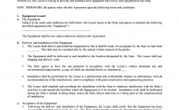003 Dreaded Equipment Lease Contract Template Free High Definition  Agreement Word