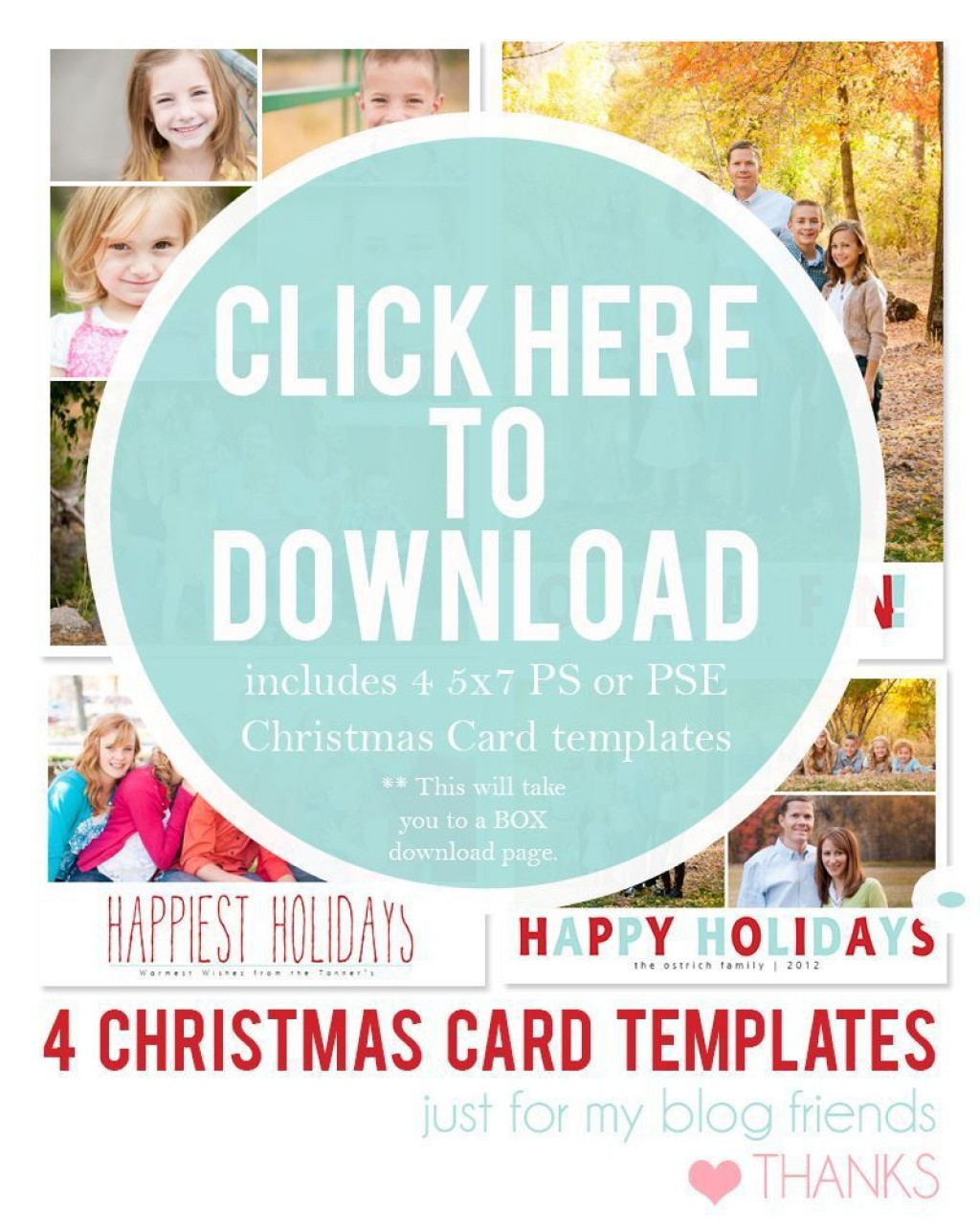 003 Dreaded Free Download Holiday Card Template Picture Large