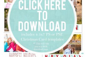 003 Dreaded Free Download Holiday Card Template Picture
