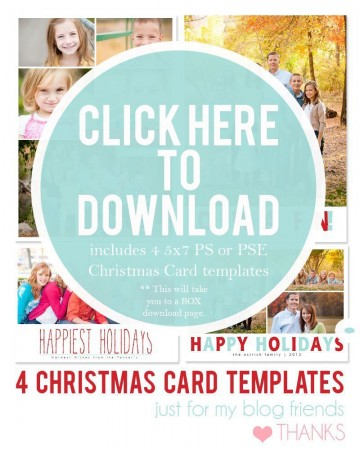 003 Dreaded Free Download Holiday Card Template Picture 360