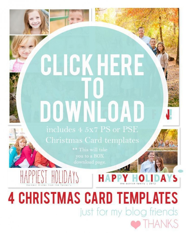 003 Dreaded Free Download Holiday Card Template Picture 728