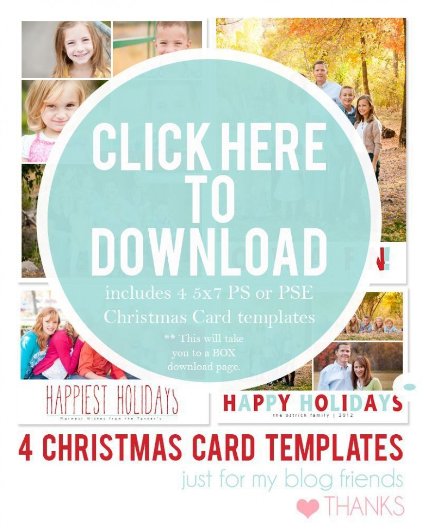 003 Dreaded Free Download Holiday Card Template Picture 868