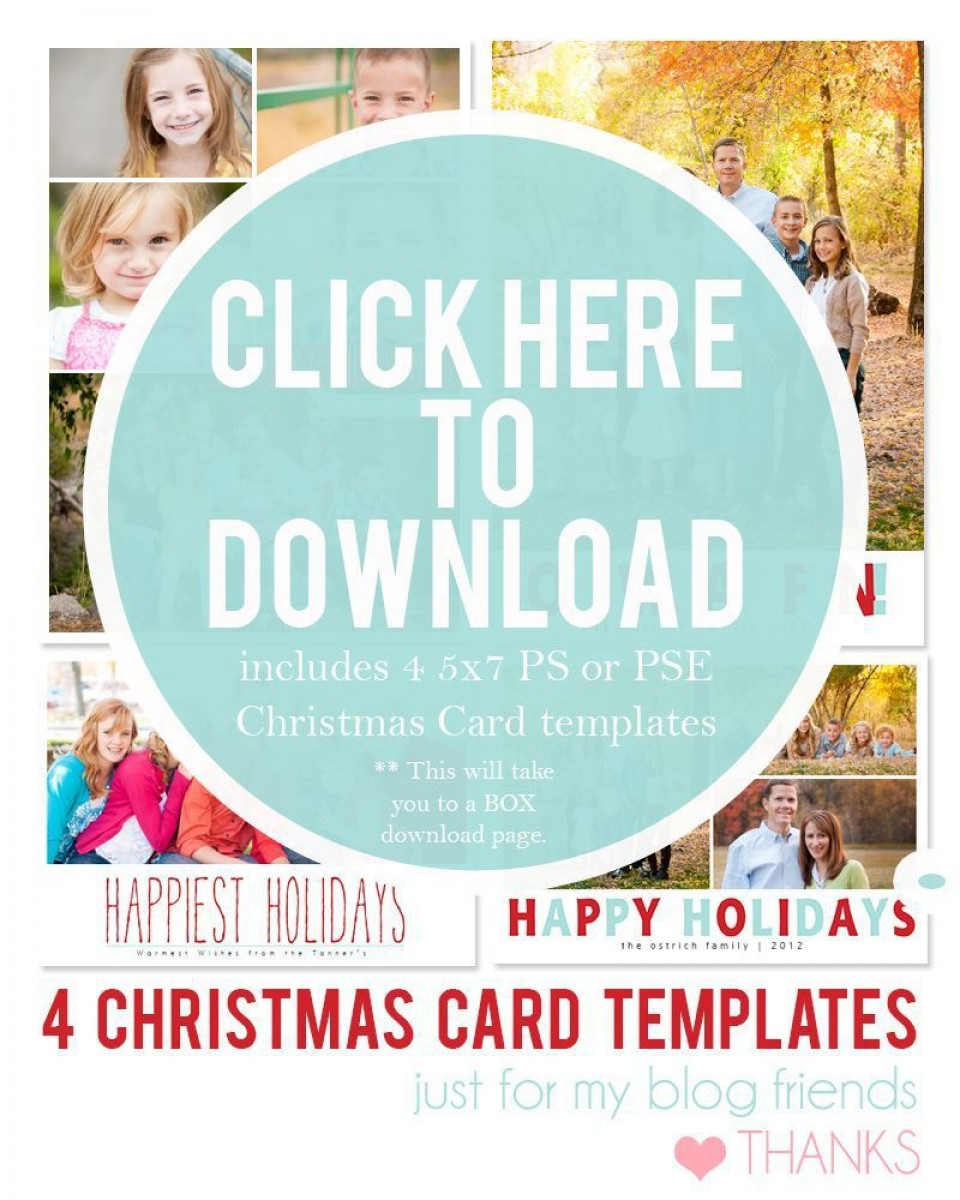 003 Dreaded Free Download Holiday Card Template Picture 960