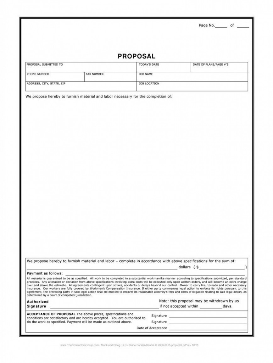 003 Dreaded Free Job Estimate Template Image  Pdf Form To Print Printable