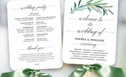 003 Dreaded Free Printable Wedding Program Paddle Fan Template Photo  Templates