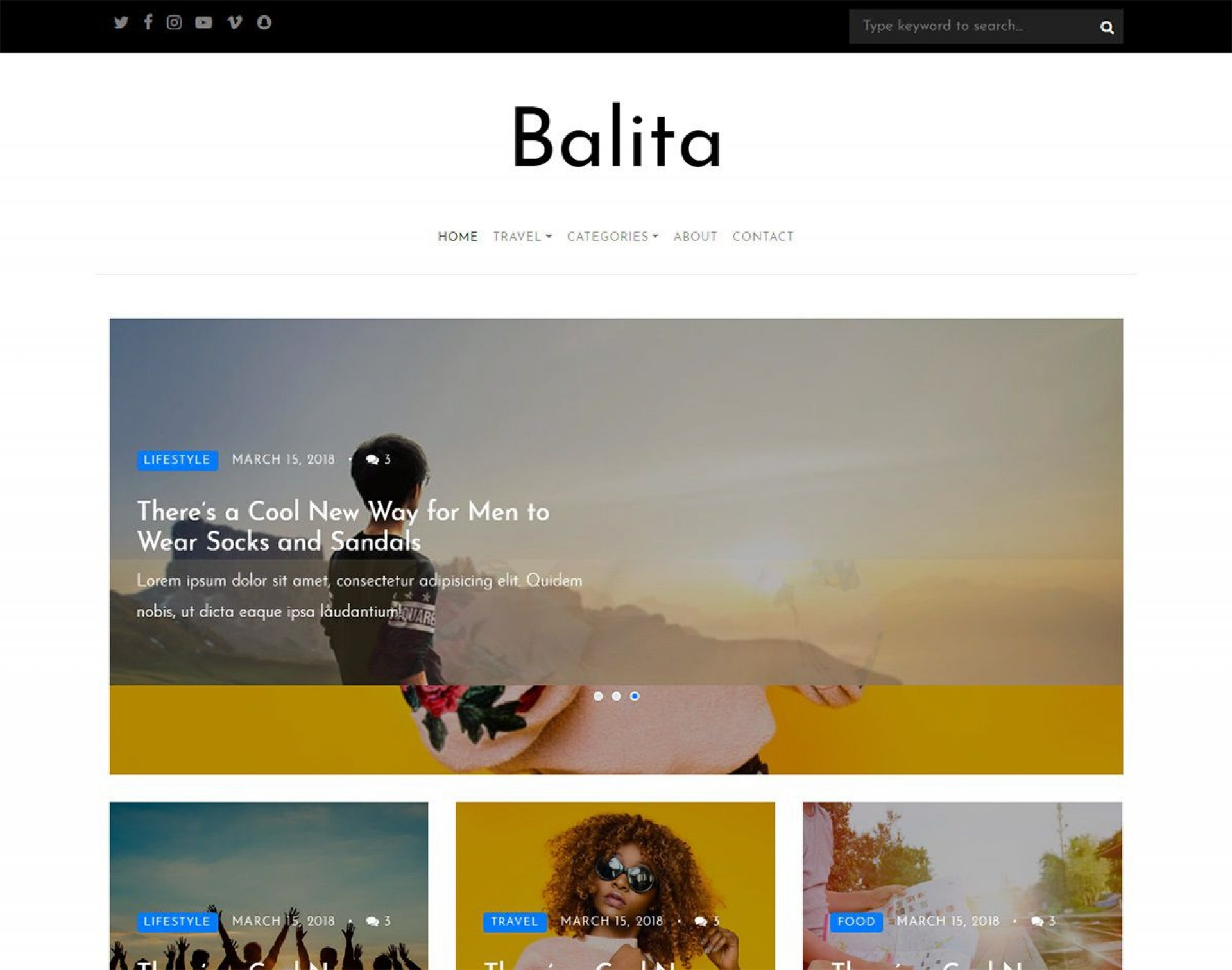 003 Dreaded Free Responsive Blogger Template 2018 Inspiration 1920