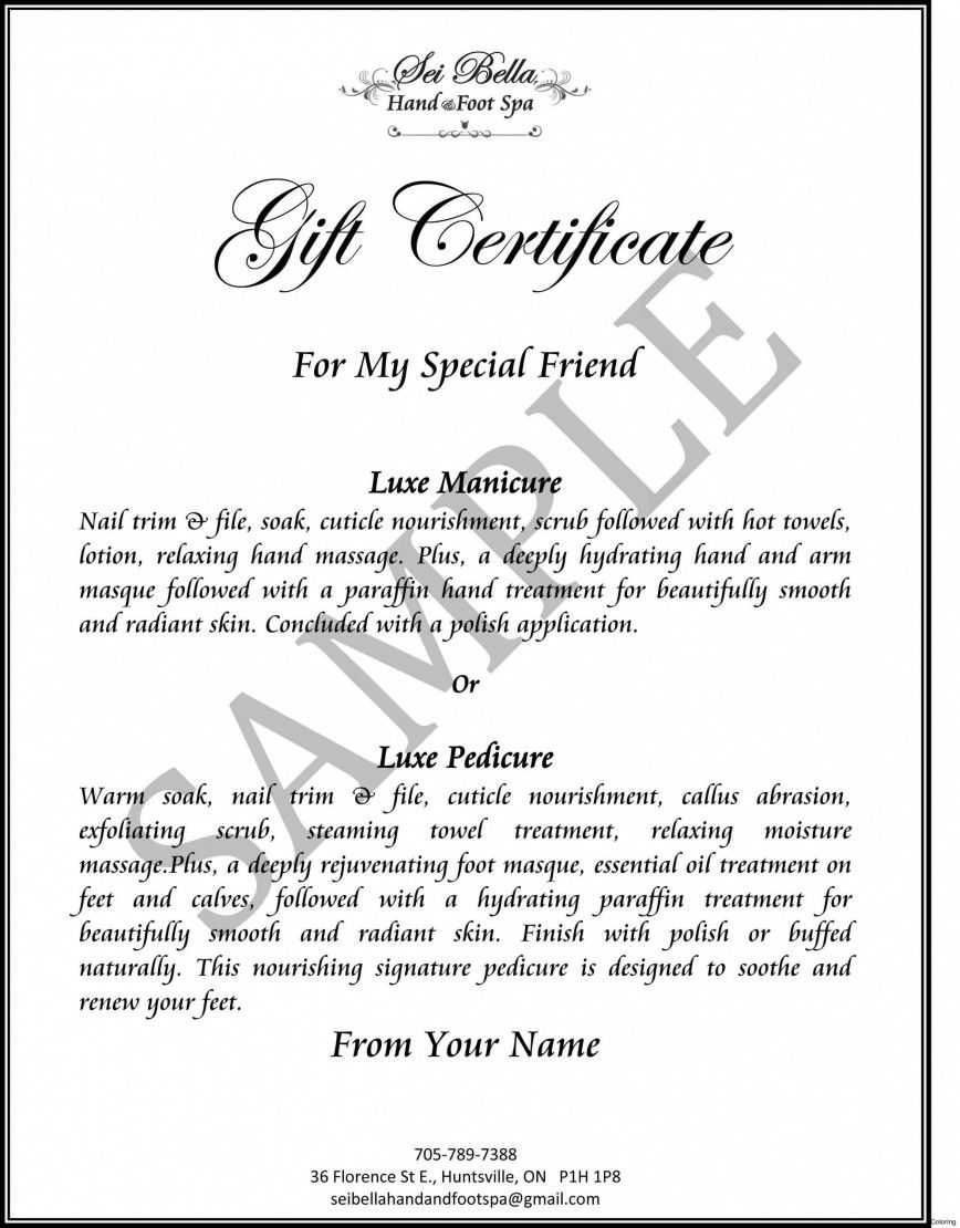 003 Dreaded Free Silent Auction Gift Certificate Template High Def Full