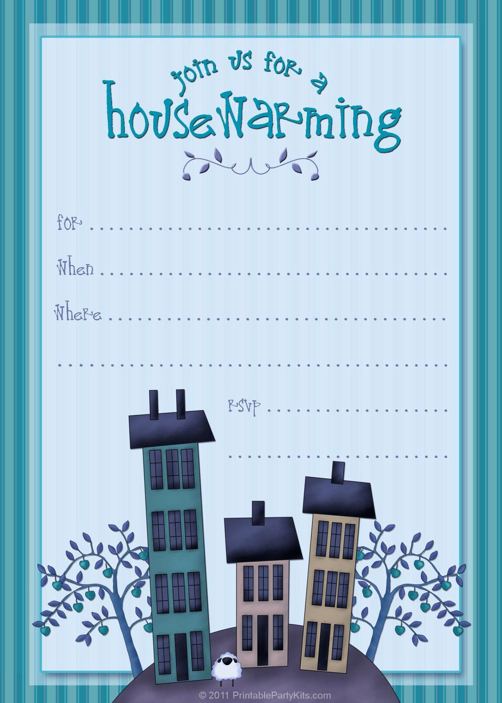 003 Dreaded Housewarming Party Invitation Template Highest Clarity  Templates Free Download Card1920