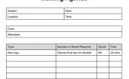 003 Dreaded Meeting Agenda Template Doc Inspiration  Busines Sample Simple