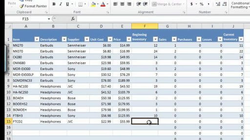 003 Dreaded Microsoft Excel Inventory Template Free Download Sample Large
