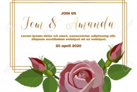 003 Dreaded Printable Wedding Invitation Template Design  Free For Microsoft Word Vintage
