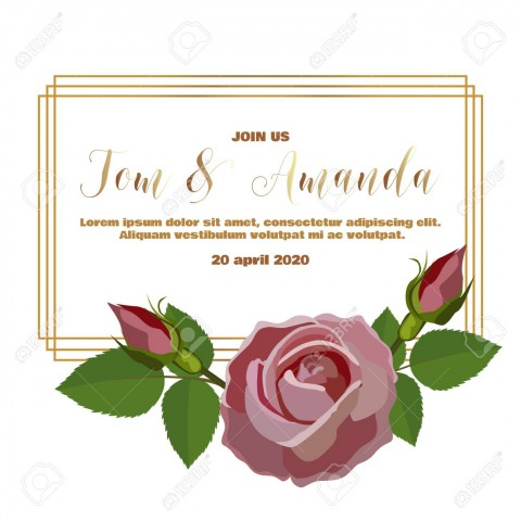 003 Dreaded Printable Wedding Invitation Template Design  Free For Microsoft Word Vintage480
