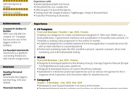 003 Dreaded Professional Cv Template Free Online High Definition  Resume