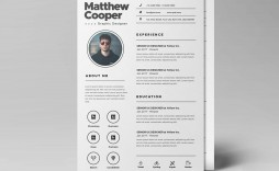 003 Dreaded Psd Cv Template Free Design  2018 Vector Photo And File Download Architect