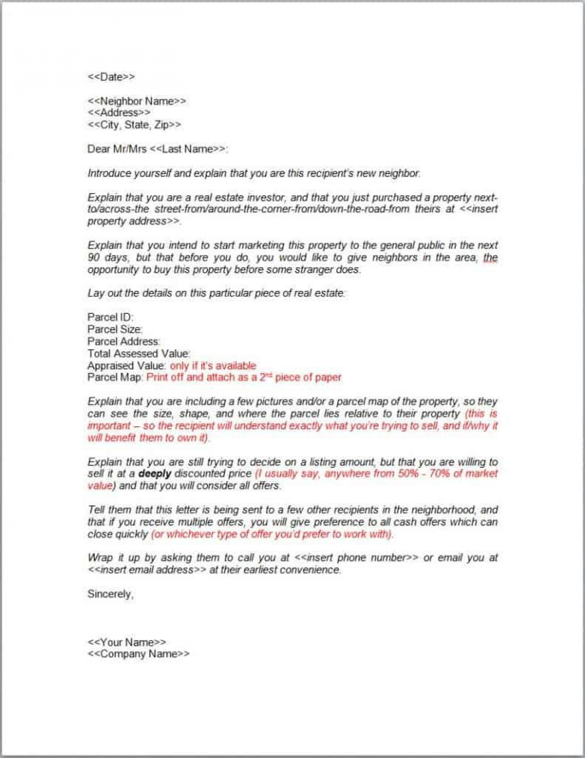 003 Dreaded Real Estate Marketing Letter Template High Definition  Templates1920
