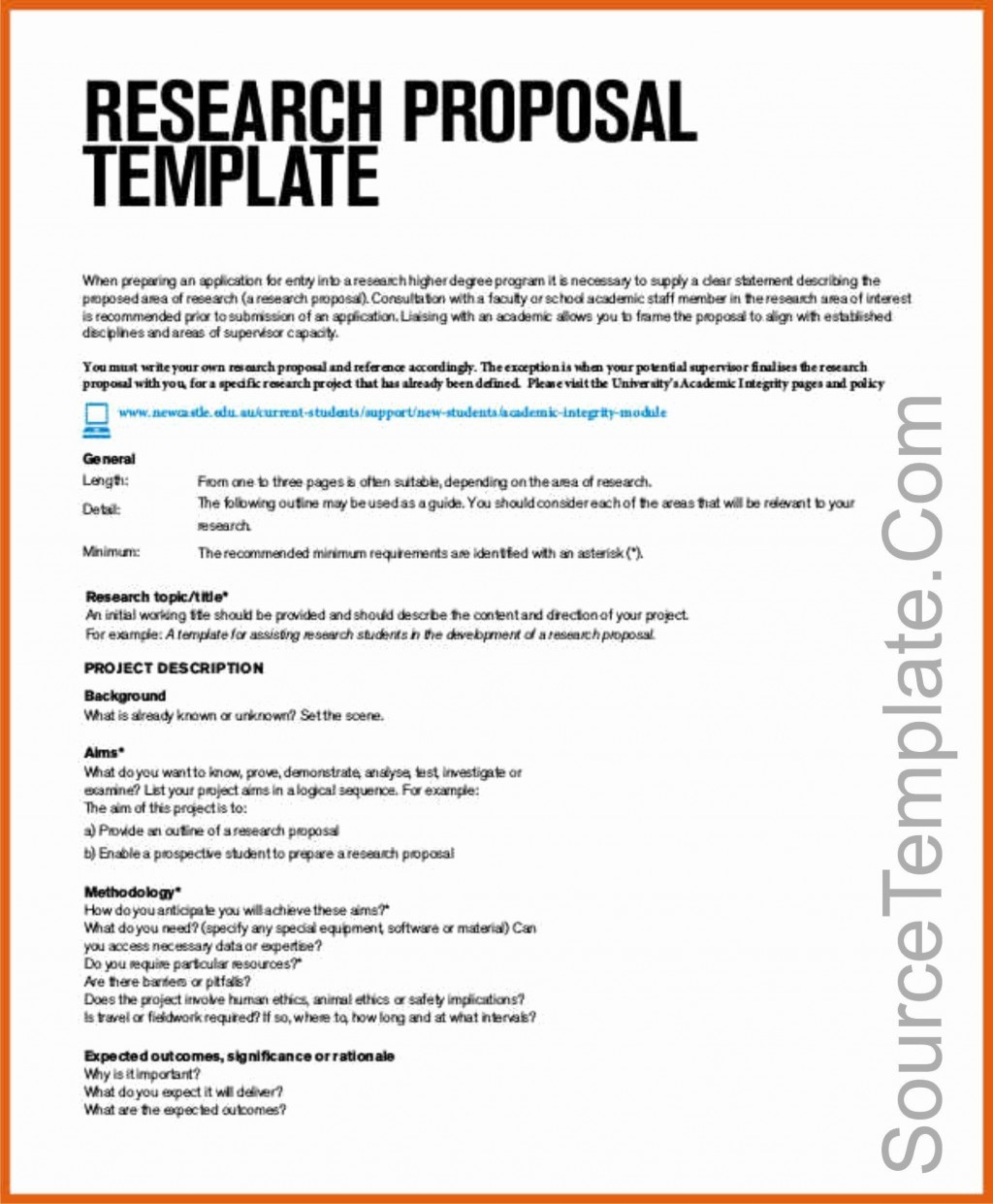 003 Dreaded Research Topic Proposal Template Inspiration  Format Paper ExampleLarge