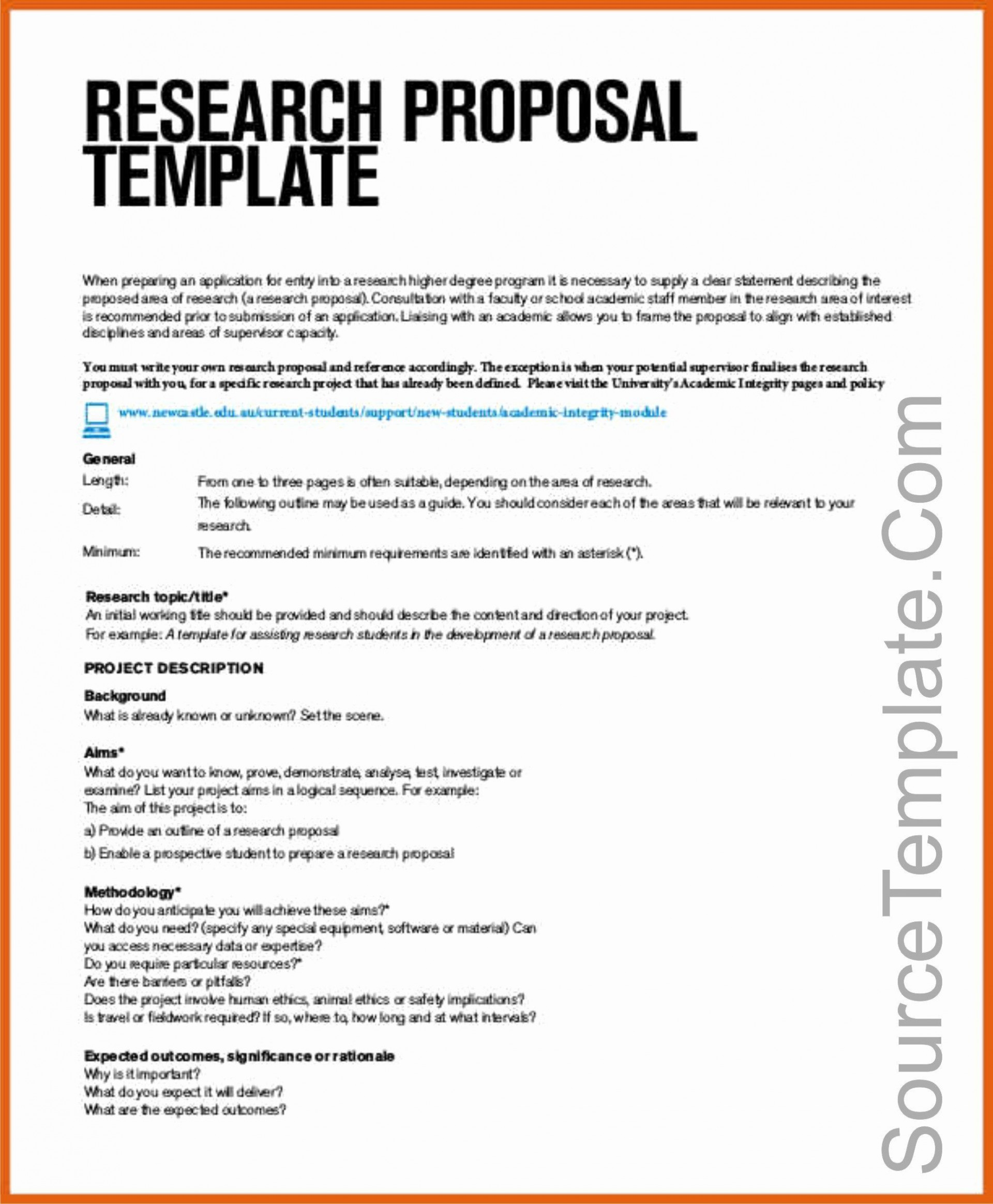 003 Dreaded Research Topic Proposal Template Inspiration  Format Paper Example1920