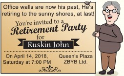 003 Dreaded Retirement Party Invite Template Highest Quality  Invitation Online M Word Free