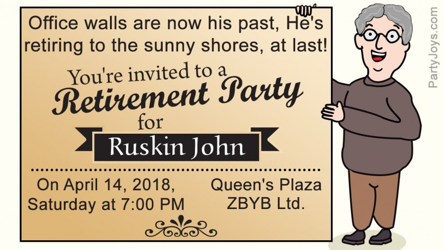 003 Dreaded Retirement Party Invite Template Highest Quality  Invitation M Word Free Download Surprise