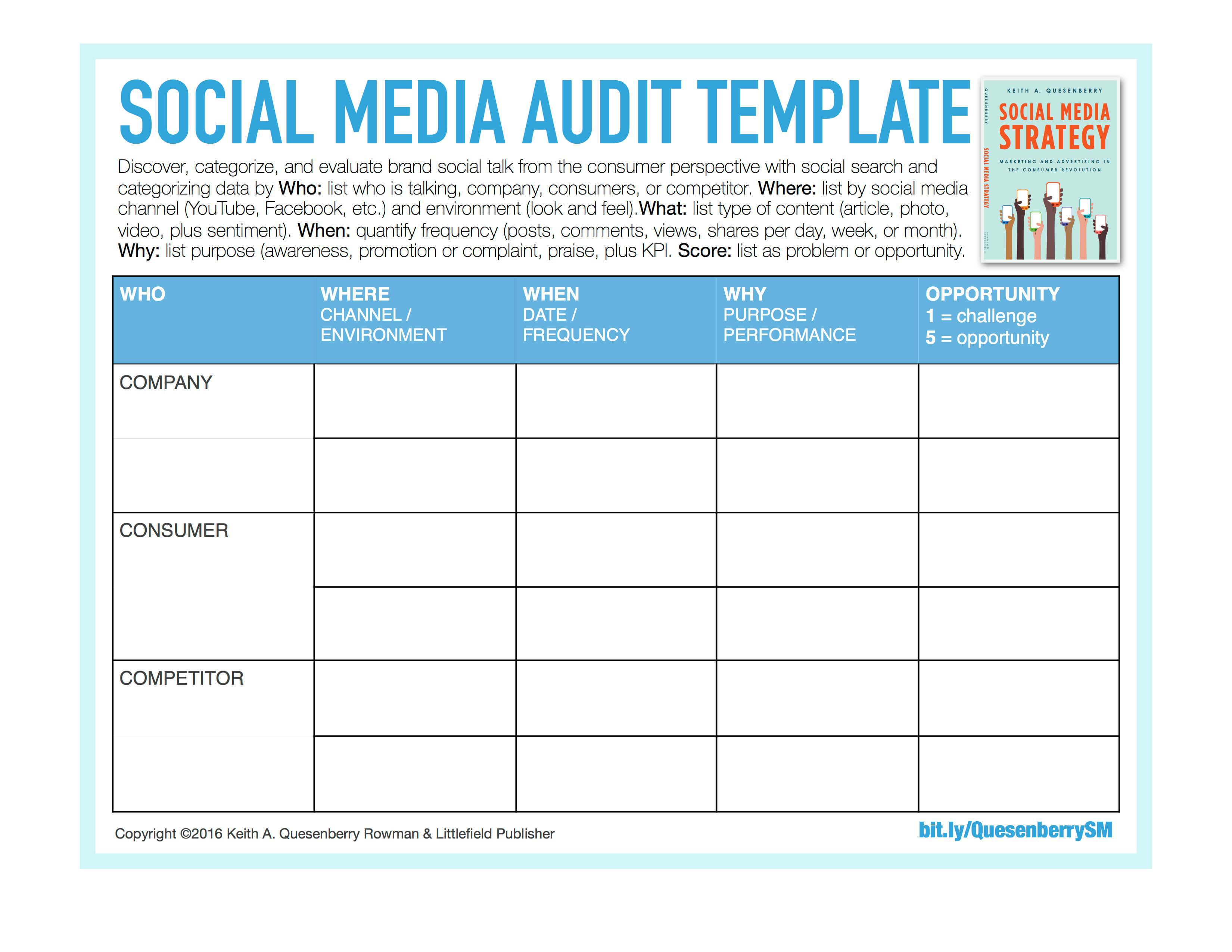 003 Dreaded Social Media Strategy Template Pdf High Resolution  Sample ContentFull