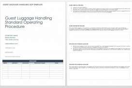003 Dreaded Standard Operating Procedure Template Word Highest Quality  Microsoft (sop) Format Download