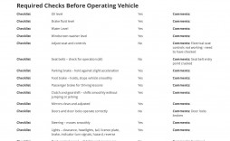 003 Dreaded Vehicle Inspection Checklist Template Image  Safety Ontario Motor Kenya Form