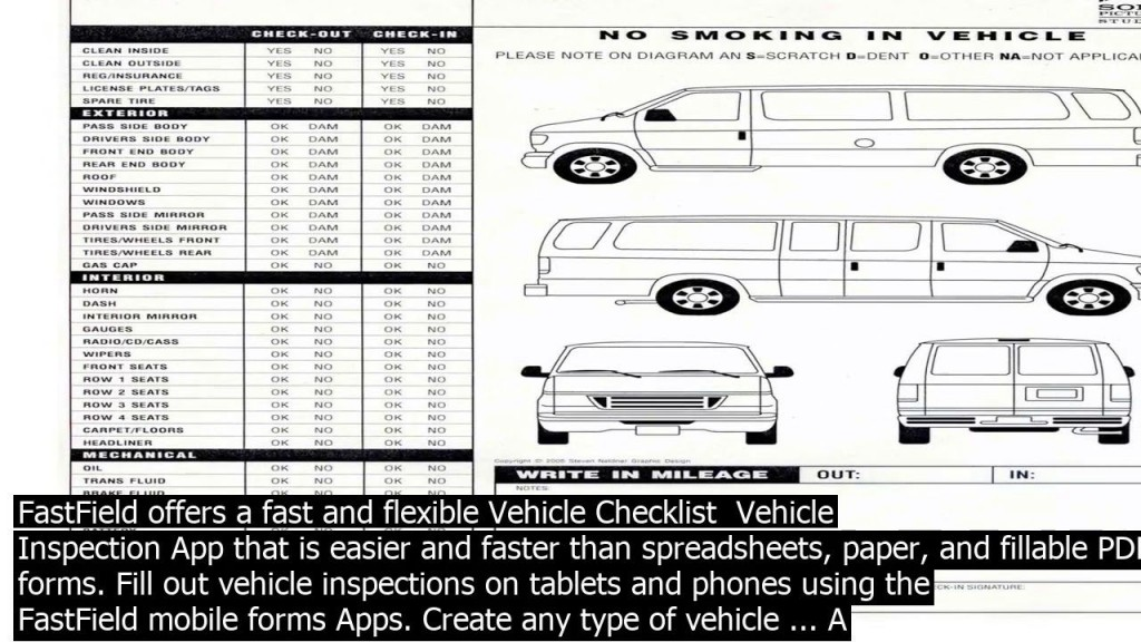 003 Dreaded Vehicle Inspection Form Template Doc Image Large
