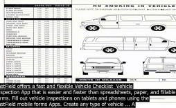 003 Dreaded Vehicle Inspection Form Template Doc Image