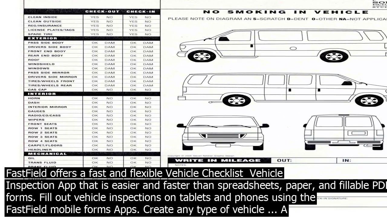 003 Dreaded Vehicle Inspection Form Template Doc Image Full
