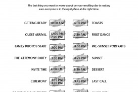 003 Dreaded Wedding Timeline For Guest Template Free Example  Download