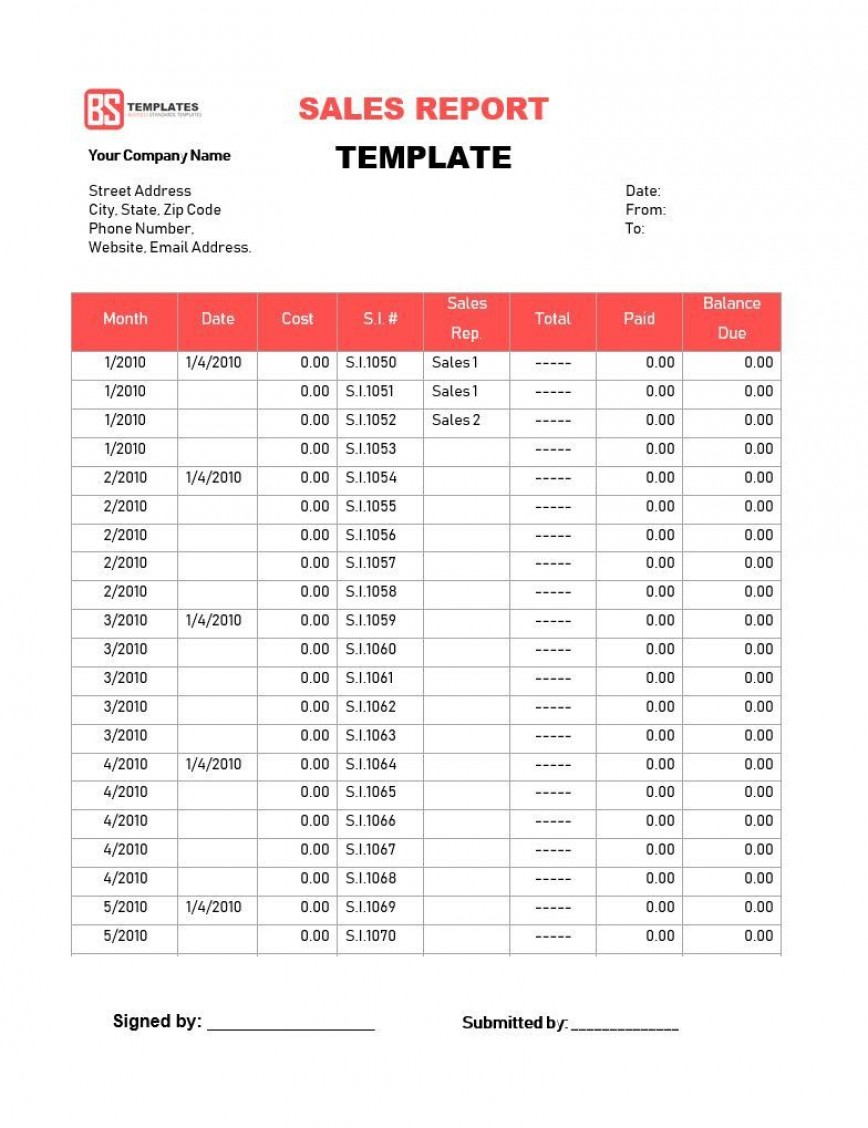 003 Dreaded Weekly Sale Report Template Photo  Free Download Call Example Xl868