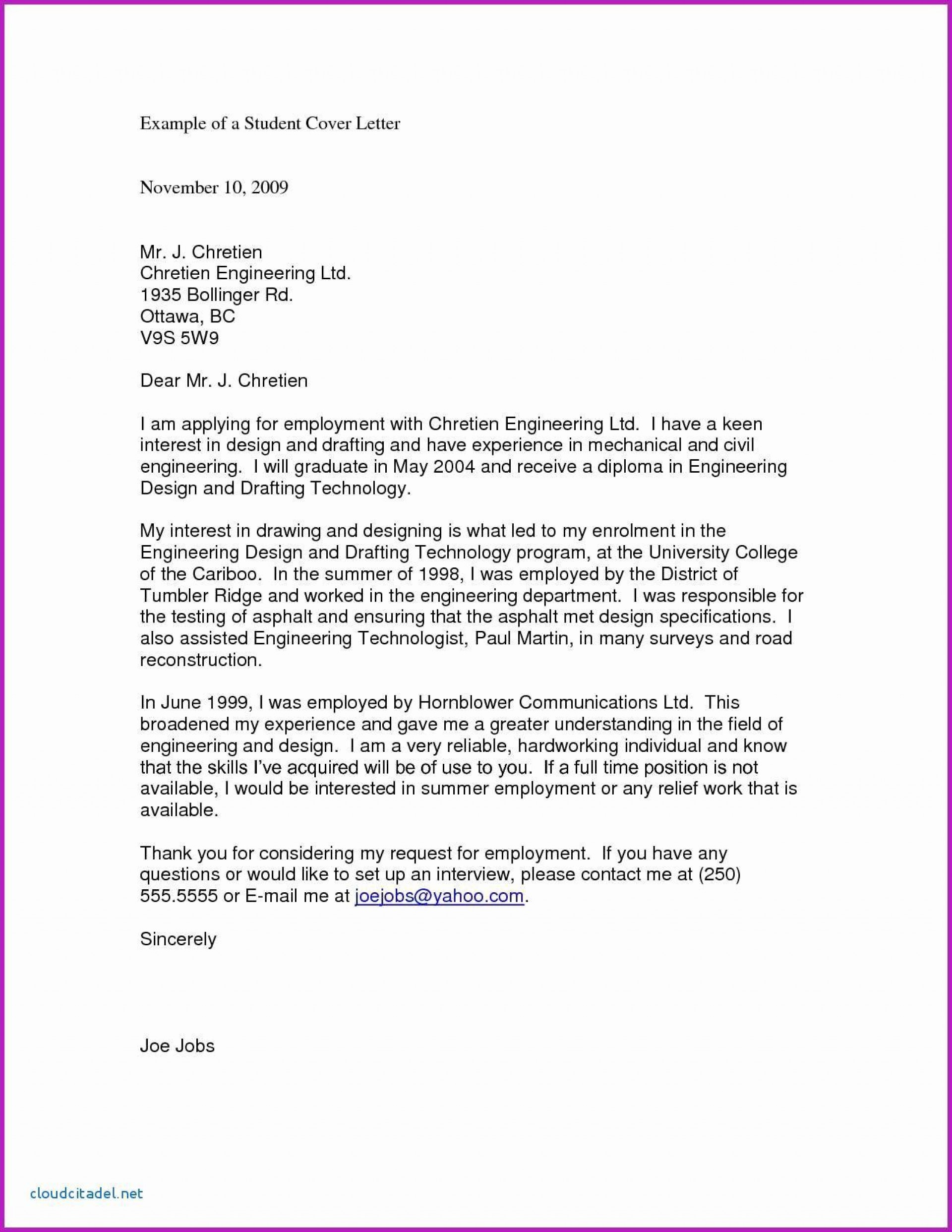 003 Excellent Cover Letter Sample Template For Fresh Graduate In Marketing Inspiration 1920