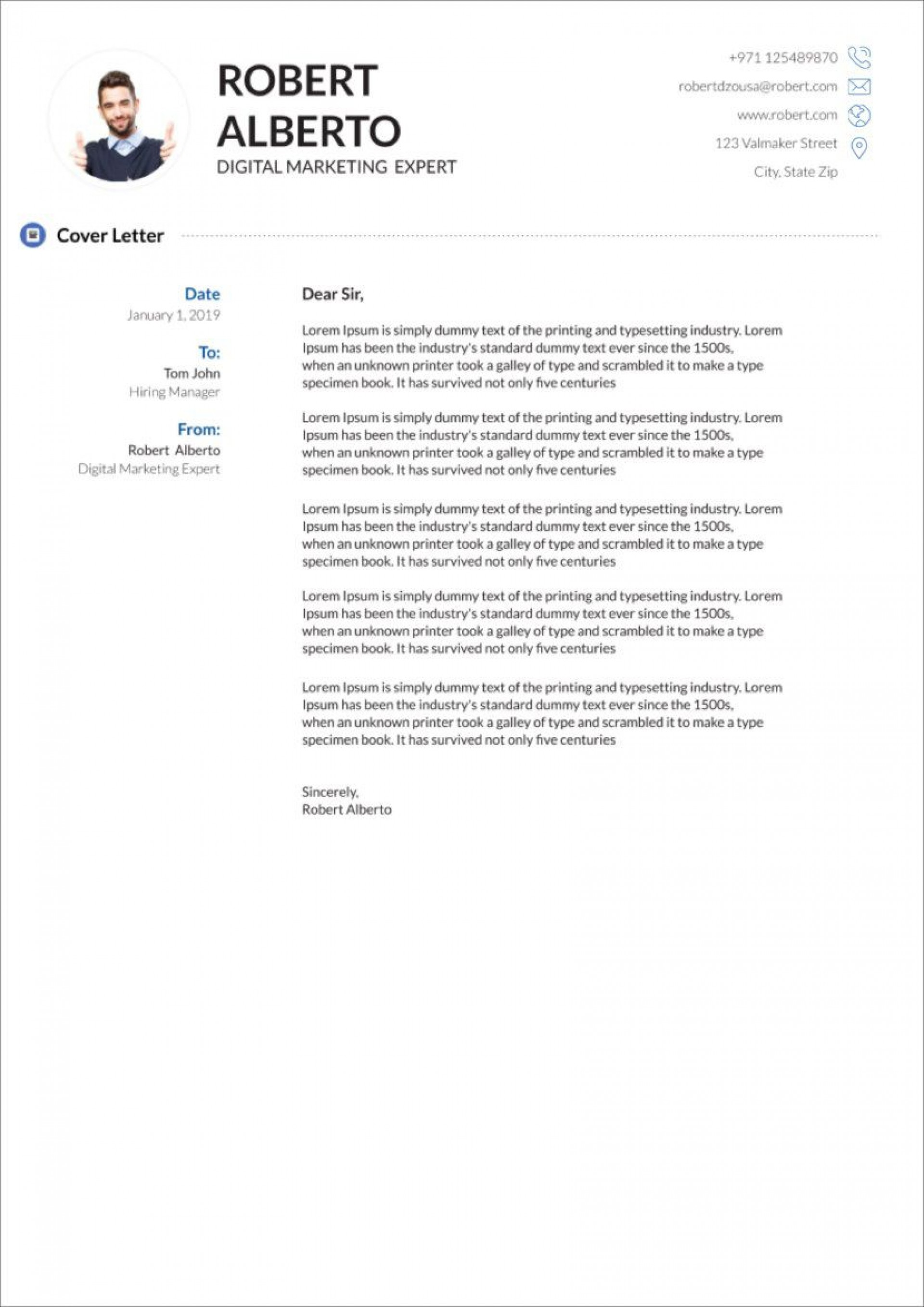 003 Excellent Free Cover Letter Template Download Concept  Word Doc Modern1920