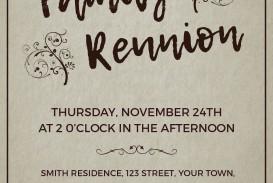003 Excellent Free Downloadable Family Reunion Flyer Template Concept