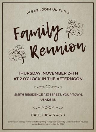 003 Excellent Free Downloadable Family Reunion Flyer Template Concept 320