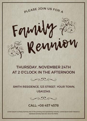 003 Excellent Free Downloadable Family Reunion Flyer Template Concept 360