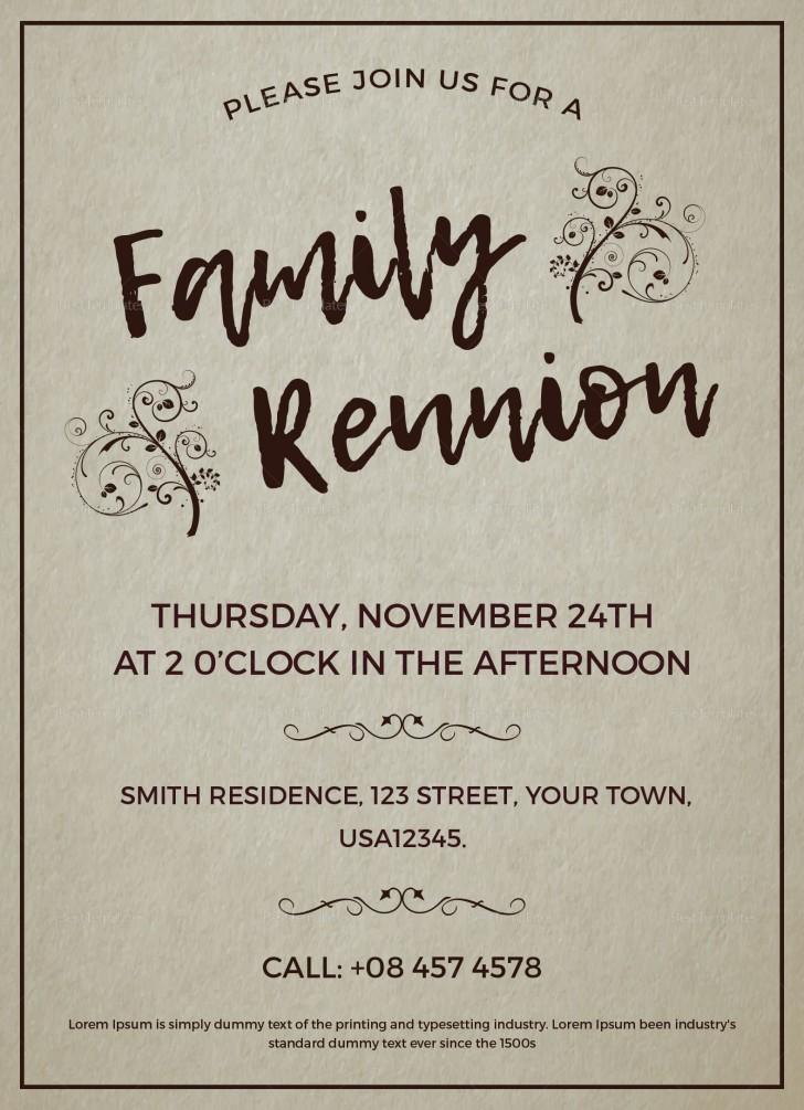 003 Excellent Free Downloadable Family Reunion Flyer Template Concept 728