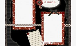 003 Excellent Free Printable Scrapbook Template Concept  Templates Paper Frame Layout